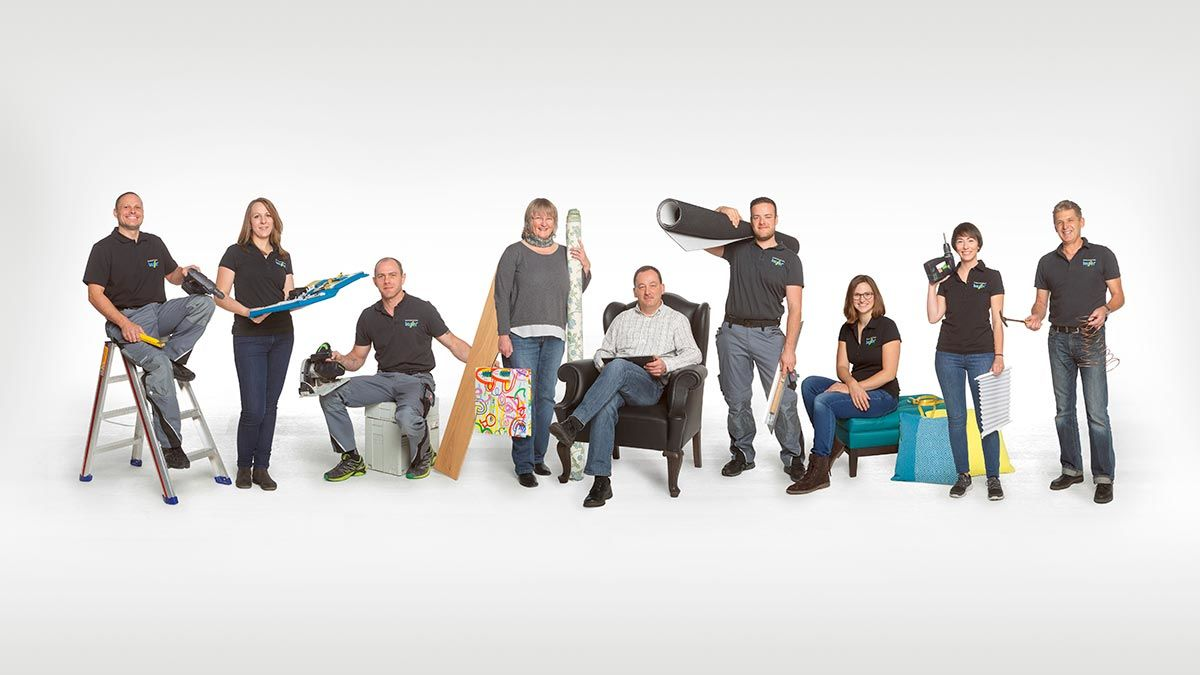 team fotos f r raumausstattung bauser blendwerk freiburg. Black Bedroom Furniture Sets. Home Design Ideas