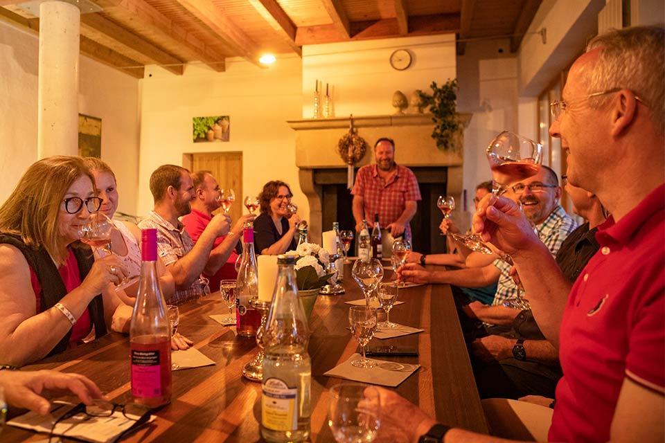 Foto einer Weinprobe