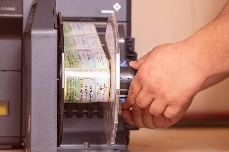 Foto eines Etikettendruckers von Epson
