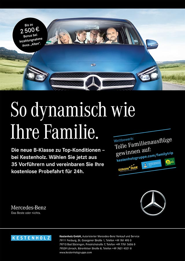 Mercedes-Benz B-Klasse mit Familie